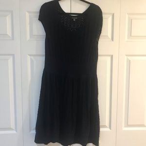 American Eagle Navy Sparkle Sweater Dress